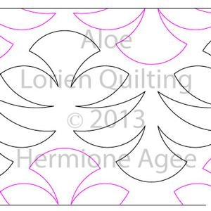Digital Quilting Design Aloe by Lorien Quilting.