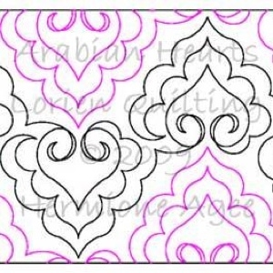 Digital Quilting Design Arabian Hearts by Lorien Quilting.