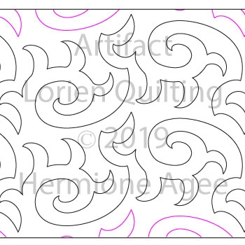 Artifact by Lorien Quilting. This image demonstrates how this computerized pattern will stitch out once loaded on your robotic quilting system. A full page pdf is included with the design download.