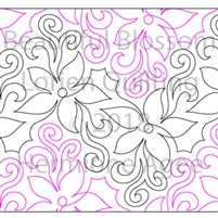 Beautiful Blossom by Lorien Quilting. This image demonstrates how this computerized pattern will stitch out once loaded on your robotic quilting system. A full page pdf is included with the design download.