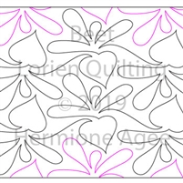 Beet by Lorien Quilting. This image demonstrates how this computerized pattern will stitch out once loaded on your robotic quilting system. A full page pdf is included with the design download.