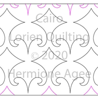 Cairo by Lorien Quilting. This image demonstrates how this computerized pattern will stitch out once loaded on your robotic quilting system. A full page pdf is included with the design download.