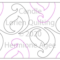 Candle by Lorien Quilting. This image demonstrates how this computerized pattern will stitch out once loaded on your robotic quilting system. A full page pdf is included with the design download.