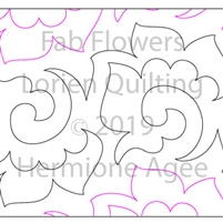 Fab Flowers by Lorien Quilting. This image demonstrates how this computerized pattern will stitch out once loaded on your robotic quilting system. A full page pdf is included with the design download.