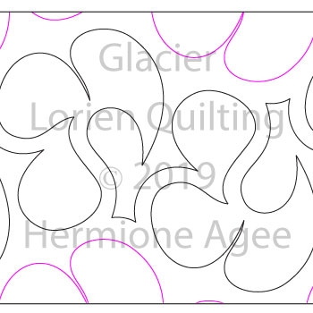 Glacier by Lorien Quilting. This image demonstrates how this computerized pattern will stitch out once loaded on your robotic quilting system. A full page pdf is included with the design download.