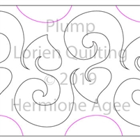 Plump by Lorien Quilting. This image demonstrates how this computerized pattern will stitch out once loaded on your robotic quilting system. A full page pdf is included with the design download.