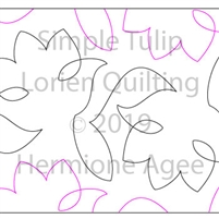 Simple Tulips by Lorien Quilting. This image demonstrates how this computerized pattern will stitch out once loaded on your robotic quilting system. A full page pdf is included with the design download.