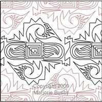 Digital Quilting Design Big Bird Mola by Marjorie Busby.