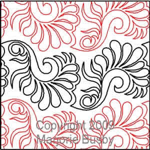 Digital Quilting Design Flirty Feather by Marjorie Busby.