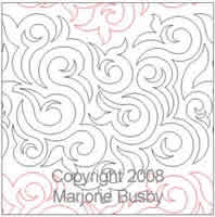 Digital Quilting Design Swirly Q by Marjorie Busby.