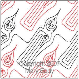Digital Quilting Design Candle II by Mary Eddy.