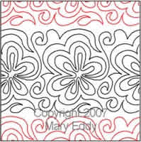 Digital Quilting Design Flower Power by Mary Eddy.