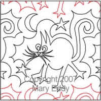 Digital Quilting Design Kitty Kat by Mary Eddy.