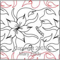 Digital Quilting Design Ribbon Dogwood by Mary Eddy.