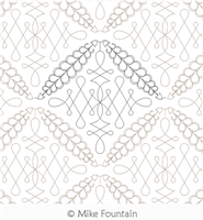 Feathers and Lace by Mike Fountain. This image demonstrates how this computerized pattern will stitch out once loaded on your robotic quilting system. A full page pdf is included with the design download.
