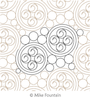 Swirls Pearls and Curls by Mike Fountain. This image demonstrates how this computerized pattern will stitch out once loaded on your robotic quilting system. A full page pdf is included with the design download.