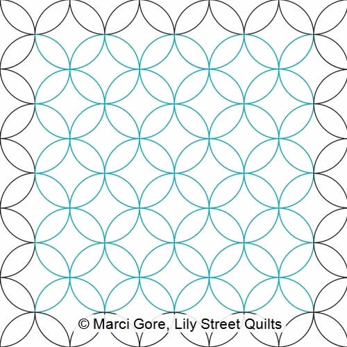 Orange Peel E2E | Marci Gore | Digitized Quilting Designs