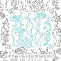 Digital Quilting Design Something Fishy by Marci Gore.