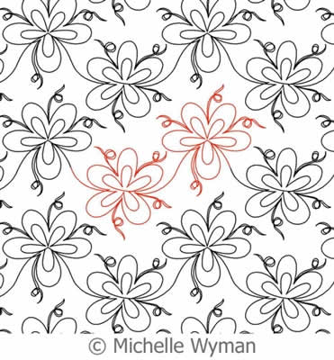 Digital Quilting Design Flowerful by Michelle Wyman.
