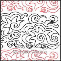 Digital Quilting Design Star Swirl by Michelle Wyman.