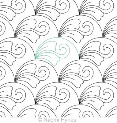 Digital Quilting Design Drifting Clamshells 2 P2P by Naomi Hynes.