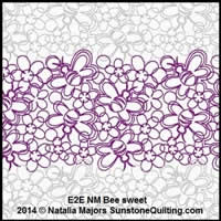 Digital Quilting Design Bee Sweet by Natalia Majors.