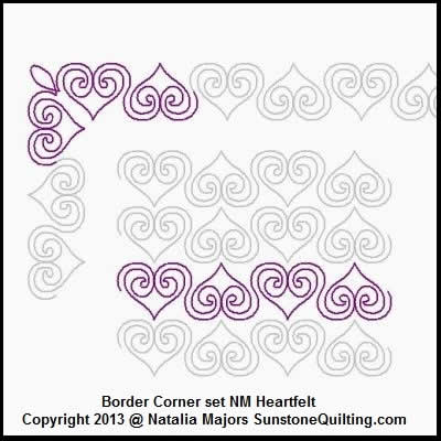 Digital Quilting Design Border Set Heartfelt by Natalia Majors.