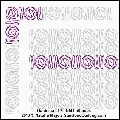 Digital Quilting Design Border Set Lollipops by Natalia Majors.