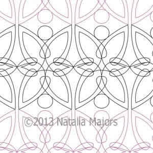 Digital Quilting Design Clematis Border or Panto by Natalia Majors.