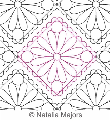 Digital Quilting Design Daisy Lace E2E by Natalia Majors.