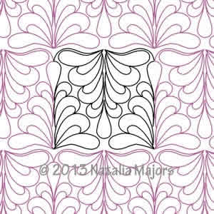 Digital Quilting Design Galutea Border or Panto by Natalia Majors.