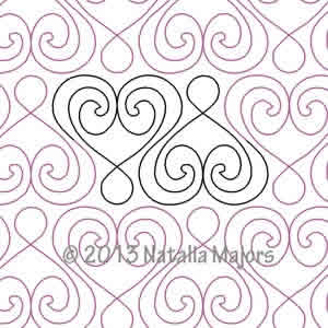 Digital Quilting Design Heartloops by Natalia Majors.
