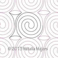 Digital Quilting Design Licorice Twist by Natalia Majors.