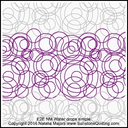 Quilting Designs For Water : Water Drops Simple Natalia Majors Digitized Quilting ...