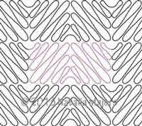 Digital Quilting Design Zig Zag Meander by Natalia Majors.