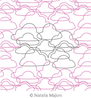 Clouds E2E by Natalia Majors. This image demonstrates how this computerized pattern will stitch out once loaded on your robotic quilting system. A full page pdf is included with the design download.