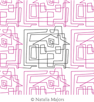 Doodling Houses E2E by Natalia Majors. This image demonstrates how this computerized pattern will stitch out once loaded on your robotic quilting system. A full page pdf is included with the design download.