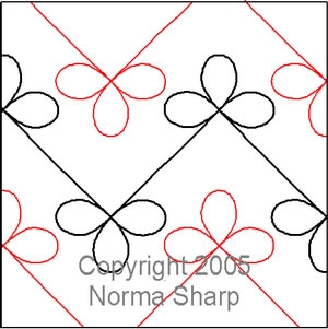 Digital Quilting Design Bow Knot by Norma Sharp.