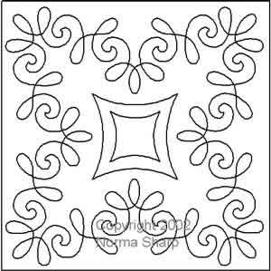 Digital Quilting Design Chantilly Lace Block 1 by Norma Sharp.