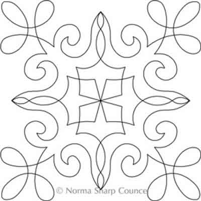 Digital Quilting Design Chantilly Lace Block 11 by Norma Sharp.