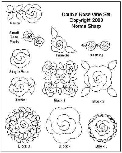 Double Rose Vine Set Norma Sharp Digitized Quilting Designs