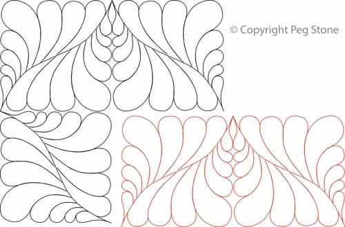 Diamond Feather Border and Corner | Digital Quilting Designs : feather quilting designs - Adamdwight.com
