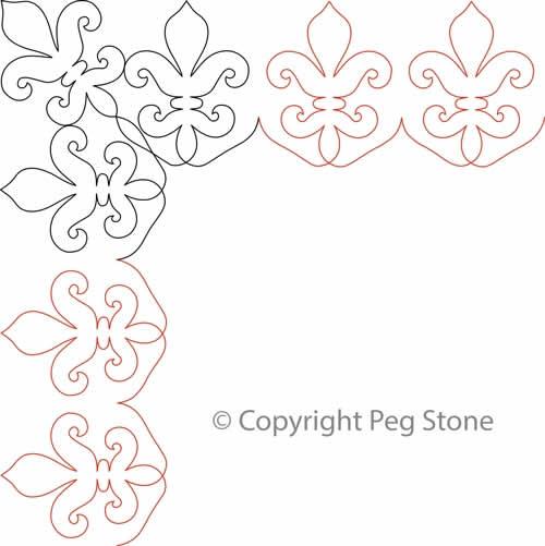 Peg's Fleur de Lis Border and Corner | Digital Quilting Designs : fleur de lis quilt pattern - Adamdwight.com