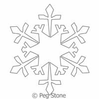 Digital Quilting Design Snowflake 2 by Peg Stone.