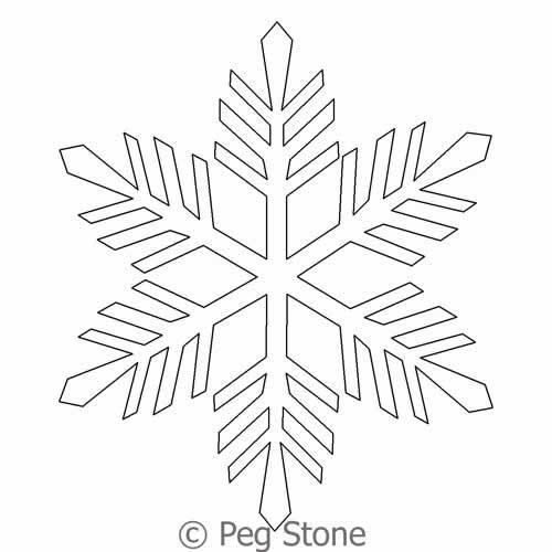Snowflake 3   Peg Stone   Digitized Quilting Designs : snowflake quilting design - Adamdwight.com