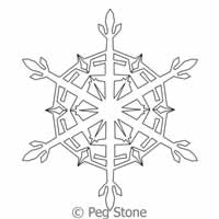 Digital Quilting Design Snowflake 4 by Peg Stone.