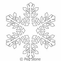 Digital Quilting Design Snowflake 5 by Peg Stone.