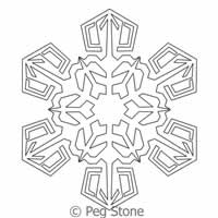 Digital Quilting Design Snowflake 6 by Peg Stone.
