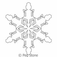 Digital Quilting Design Snowflake 7 by Peg Stone.