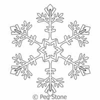 Digital Quilting Design Snowflake 8 by Peg Stone.
